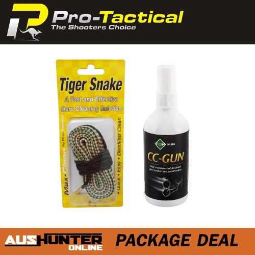 max-clean tiger snake bore cleaner .30cal & forgun cc-gun oil & preservative spray