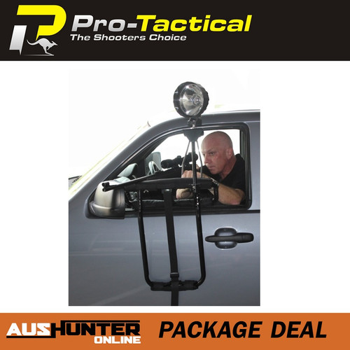 Max-Lume Deluxe Door Mounted Shooting Rest Package with 150mm Light, Shooting Rest & Handle