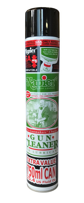 Napier Gun Cleaner and Lubricant - 750ml Aerosol