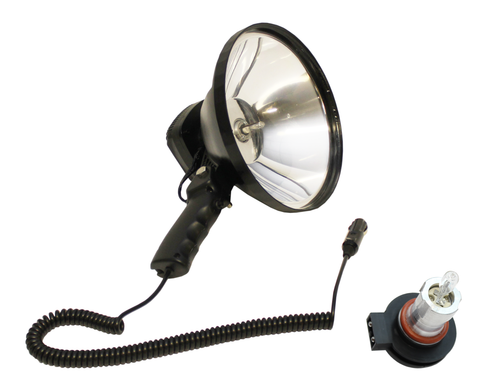 Hand Held HID Hunting Spotlight 55w 4000 Lumens - 240mm with Halogen Bulb
