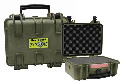 Max-Guard Cyclone Small Pistol Hard Case - Green