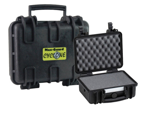 Max-Guard Cyclone Small Pistol Hard Case - Black