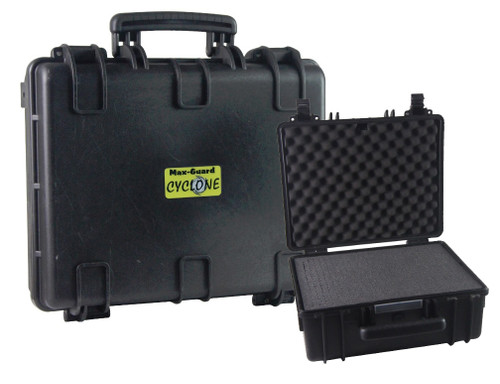 Max-Guard Cyclone Large Pistol Hard Case - Black