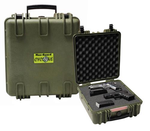 Max-Guard Cyclone Extra Long Pistol Hard Case - Green