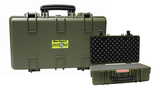 Max-Guard Cyclone Deluxe Utility Pistol/Camera Hard Case - Green