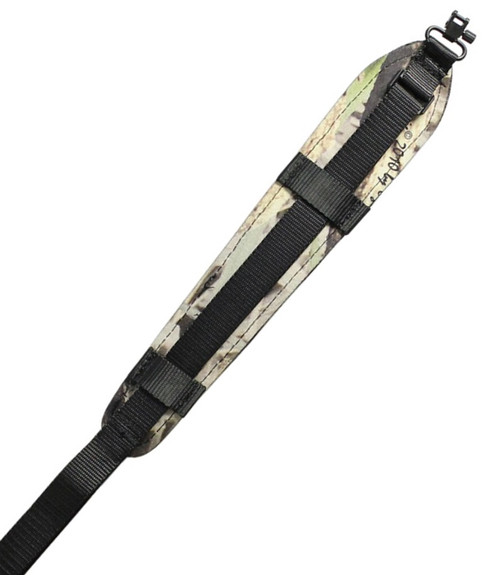 max-hunter camo gun sling nylon leather padded quick detachable swivel