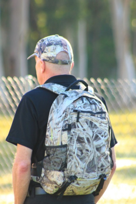 "Max-Hunter ""Stalker"" Camo Backpack with Back Support"