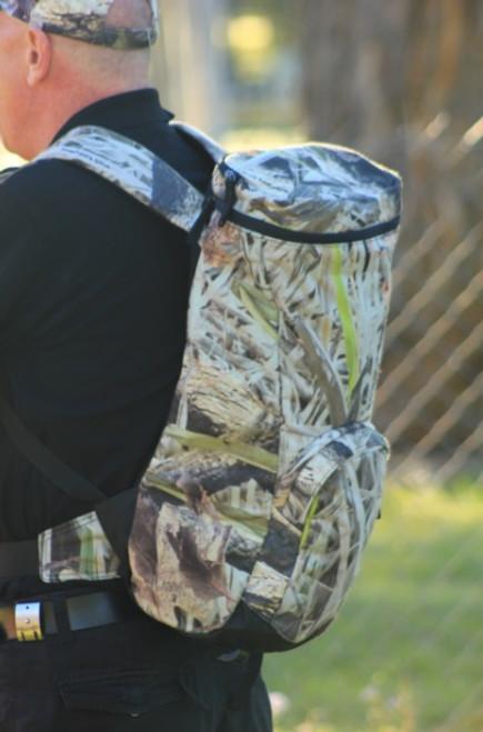"Max-Hunter ""Trekker"" Camo Barrel Backpack"