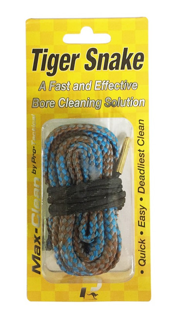 Max-Clean Rifle Tiger Snake Bore Cleaner - .22cal, .223cal, 5.56mm, .222. 22-250
