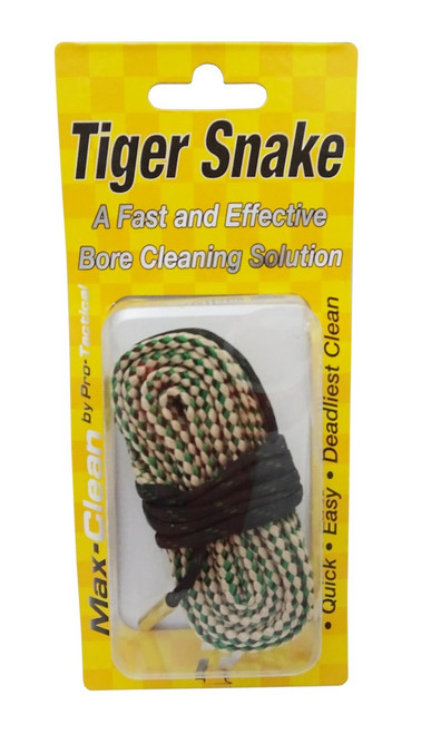 Max-Clean Rifle Tiger Snake Bore Cleaner .30cal - .308, 30-30, 30-06, .303, .300, 7.62mm