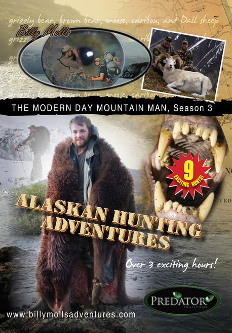 alaskan hunting adventures dvd movie season 3 hunting grizzly brown bear elk