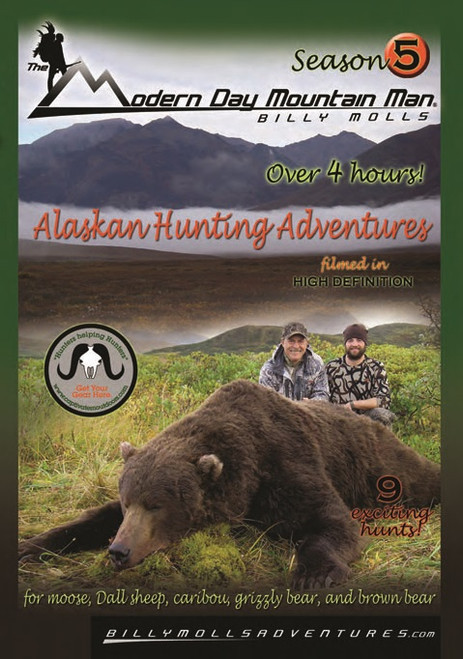 billy molls alaskan hunting adventure grizzly brown bear moose shooting dvd movie season 5