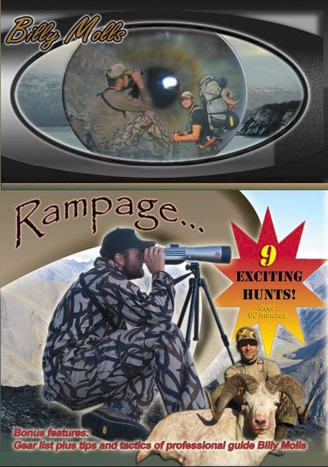 billy molls alaskan hunting adventure shooting dvd movie rampage