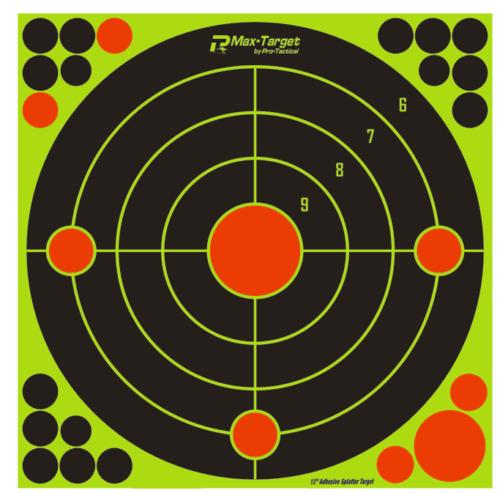 "Max-Target Sighting In Bullseye Reactive Target 12"" - 10 Pack"