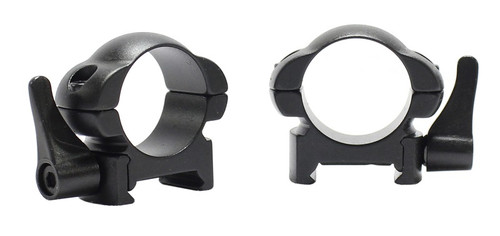 "Pecar Optics 1"" Rings Low Weaver Style Steel QD"