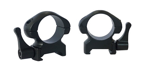 "Pecar Optics 1"" Rings Medium Weaver Style Steel QD"