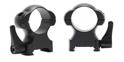 "Pecar Optics 1"" Rings High Weaver Style Steel QD"