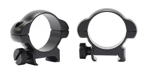 Pecar Optics 30mm Rings Low Weaver Style Steel with Locking Nut