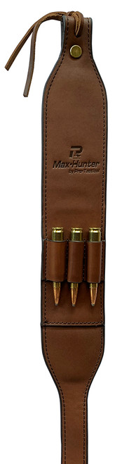 Max-Hunter Big Game Traditional Leather Gun Sling with Ammo Loops