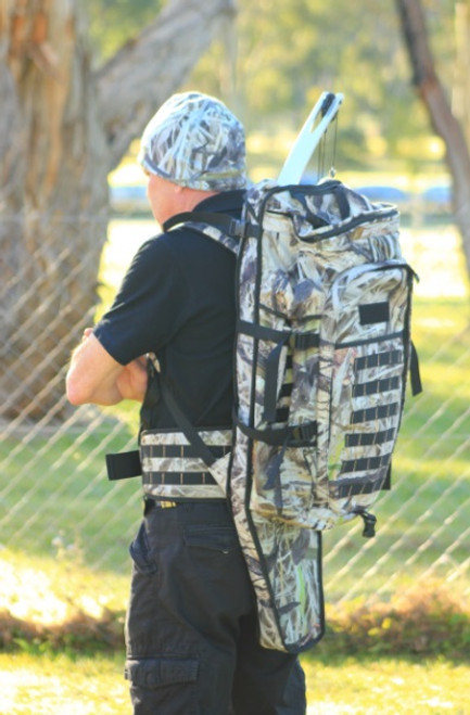 """Max-Hunter """"LSB"""" Camo Backpack with Rifle Compartment"""
