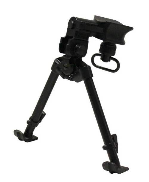 "Versa-Pod Model 1 All Steel 9-12"" Rifle Bipod - Ski Feet"