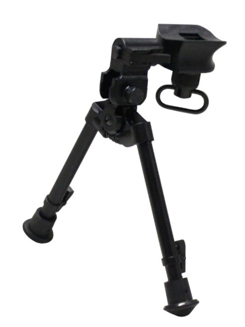 "Versa-Pod Model 2 All Steel 9-12"" Rifle Bipod - Rubber Feet"