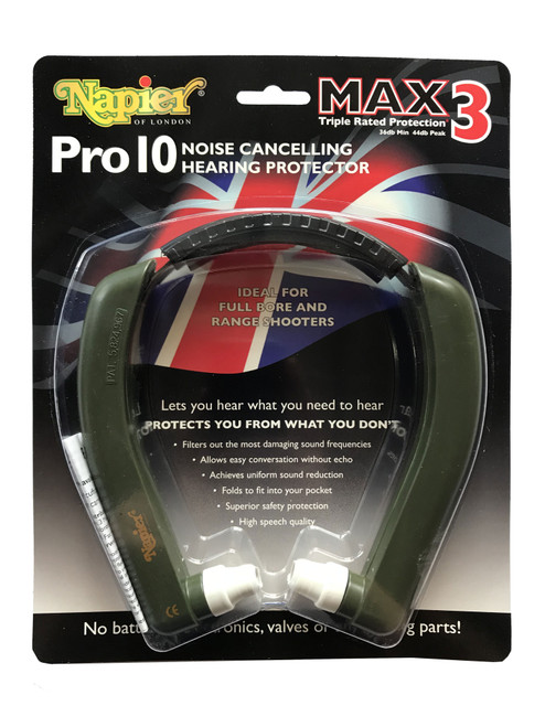 Napier Pro10 Noise Cancelling Hearing Protection MAX3