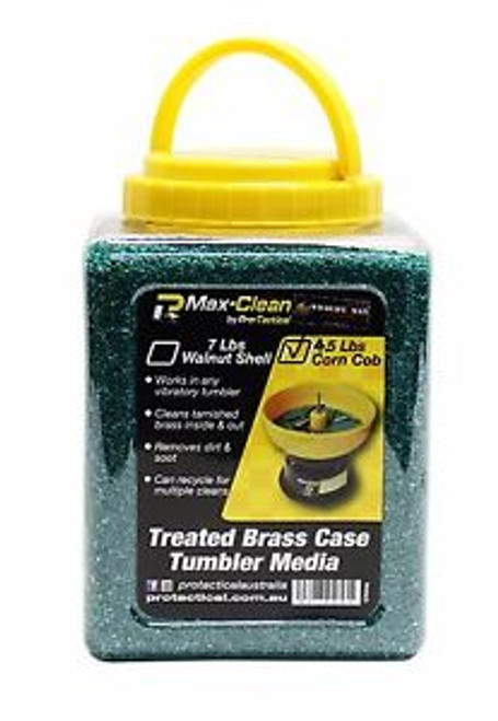 Max-Clean Case Tumbler Media - Treated Walnut Shell - 7lbs