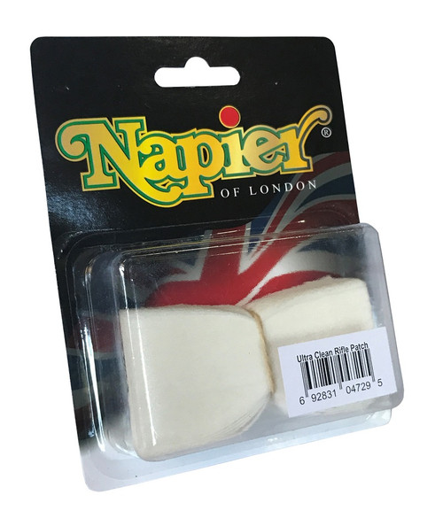 Napier Ultra Clean Pre-Cut Rifle Patches 100pk