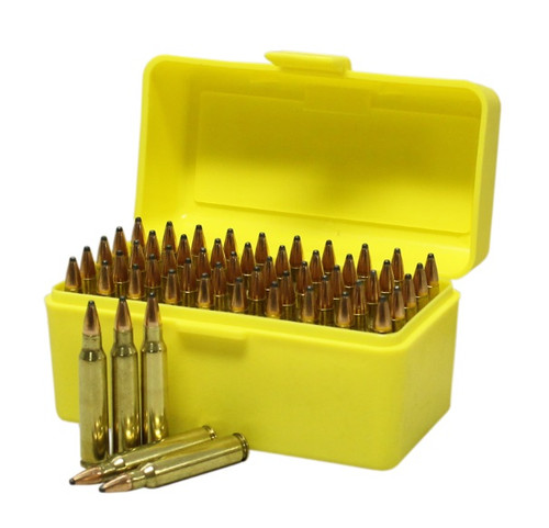 Max-Comp Plastic Rifle Ammo Box - 50 Round - .204, .222, .223 etc