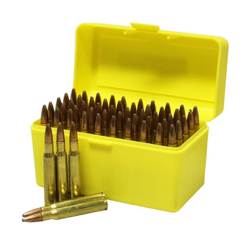 Max-Comp Plastic Rifle Ammo Box - 50 Round - .270, .30-06, .25-06 etc