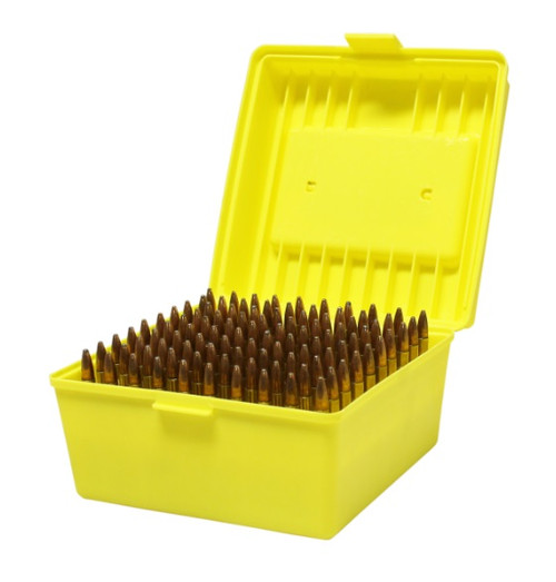 Max-Comp Large Plastic Rifle Ammo Box - 100 Round - .308, .30-06, .22-250, 6.5 Creed etc