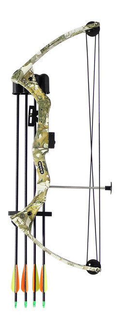 Youth C110 Compound Bow Kit Camo 15-20lbs inc. Arrows