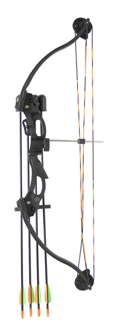 Youth C118 Compound Bow Kit Black 20lbs inc. Arrows