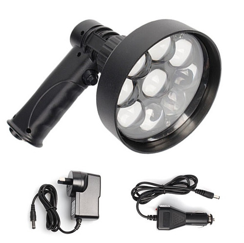 Max-Lume Hand Held 120mm LED Rechargeable 27w Spotlight 2000 Lumens
