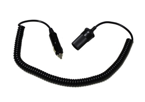 Max-Lume Spotlight Curly Cord Extension Lead with Socket