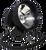 "HID Remote Spotlight 55w 4000 Lumens 7"" - 12v Cigarette Lighter Plug"