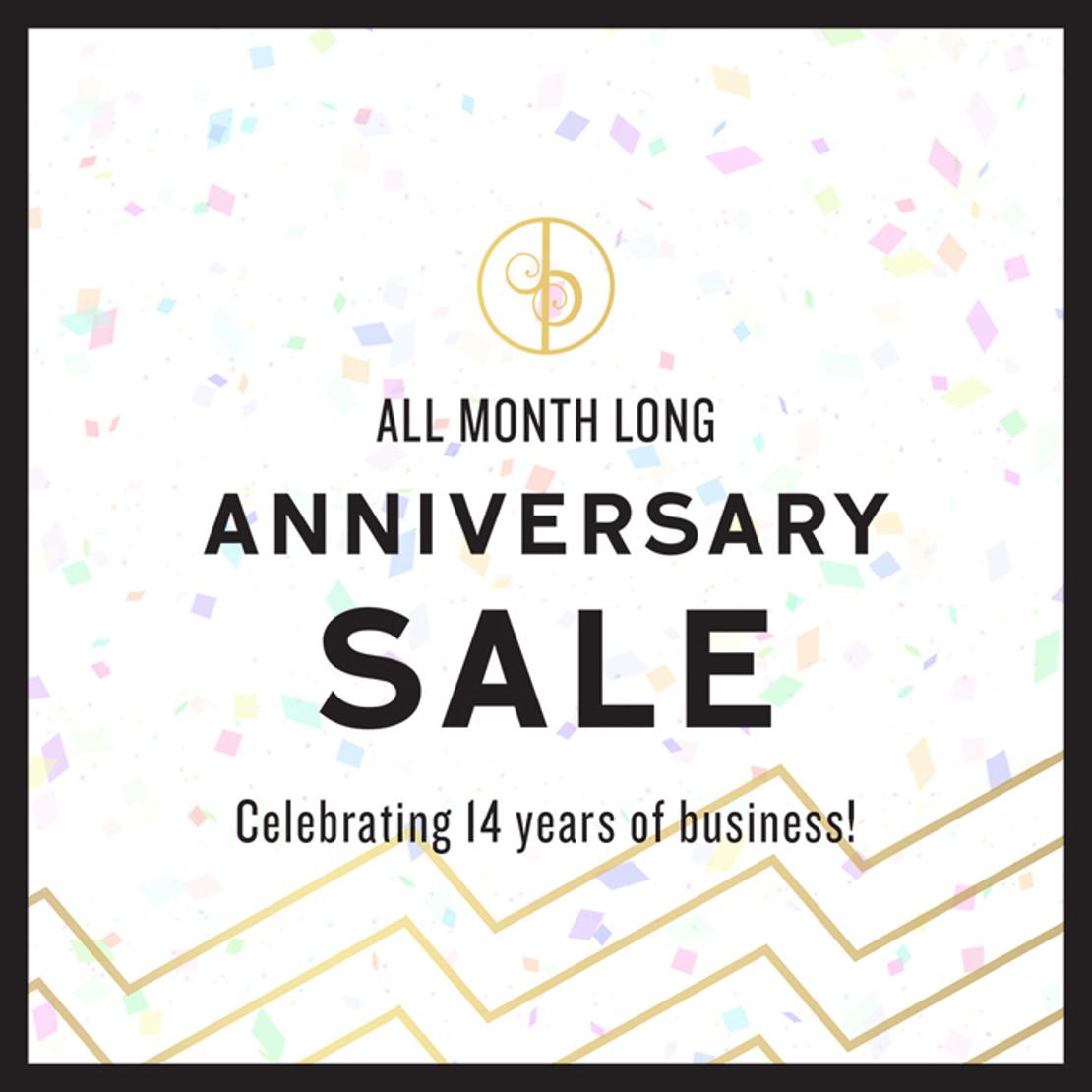 14-Year Anniversary Sale!