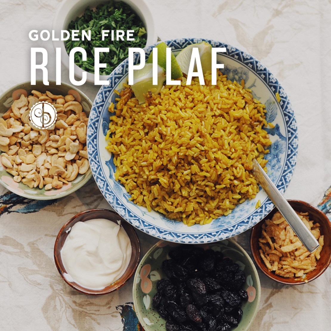 Golden Fire Rice Pilaf