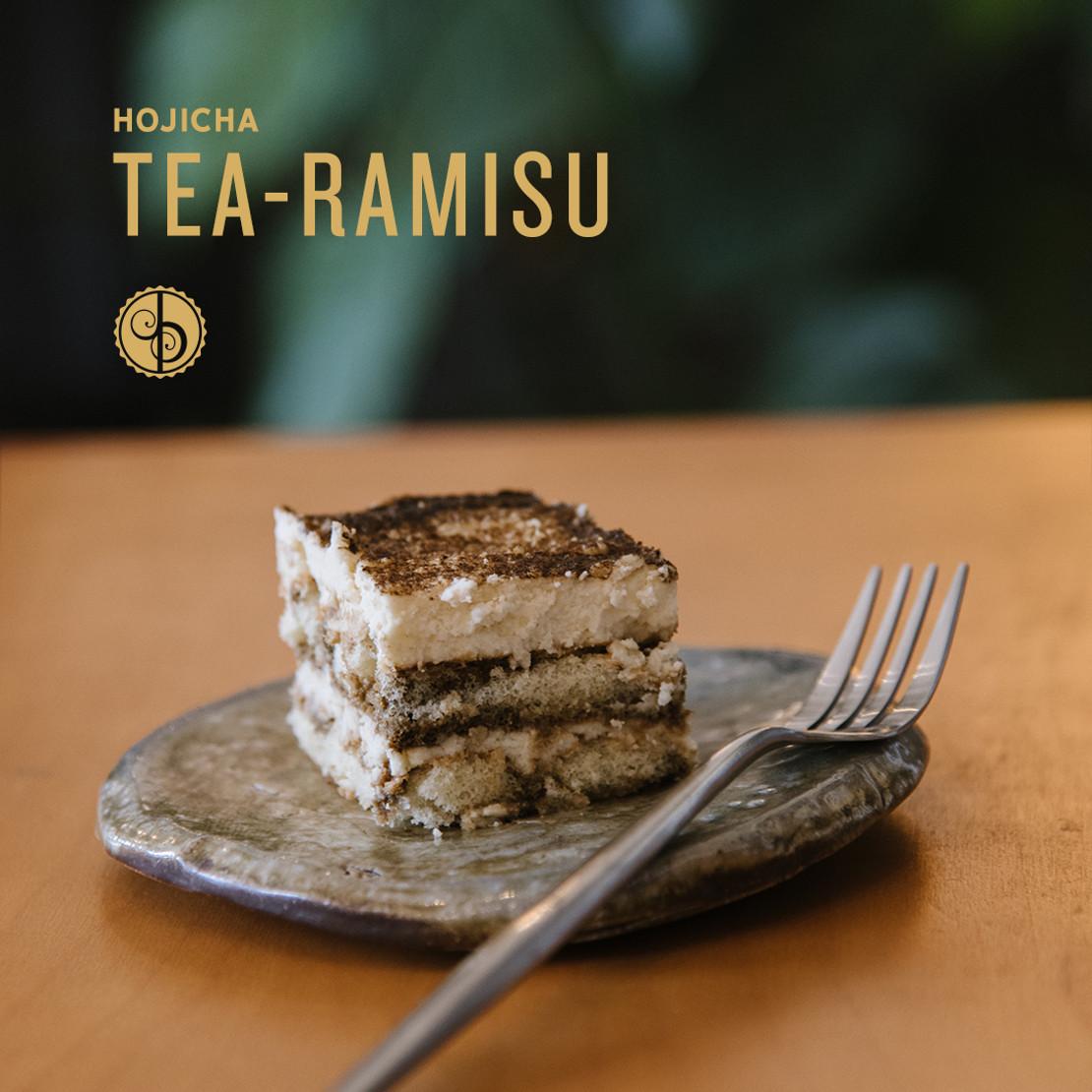 Hojicha Latte Tea-Ramisu