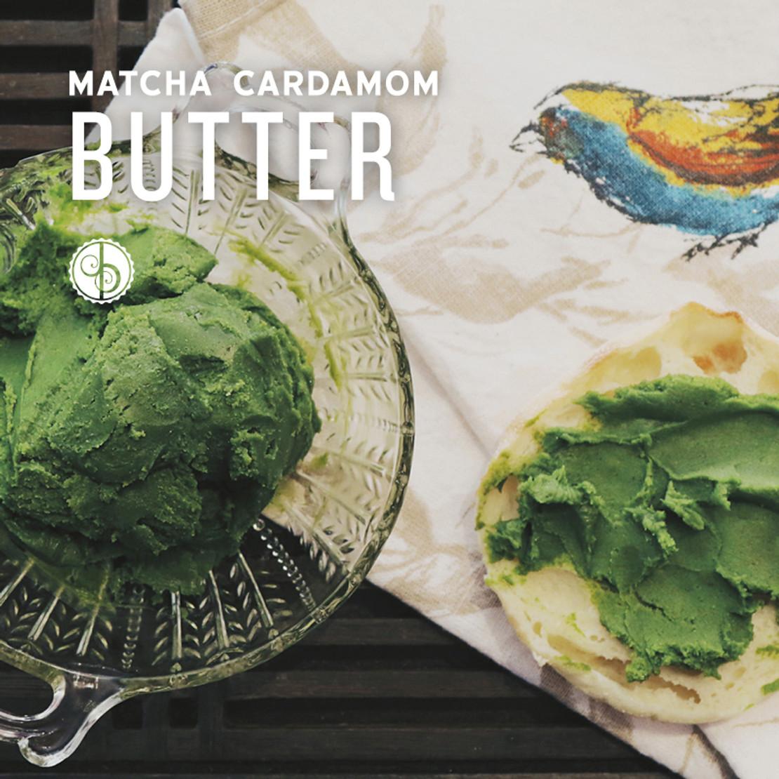 Matcha Cardamom Butter
