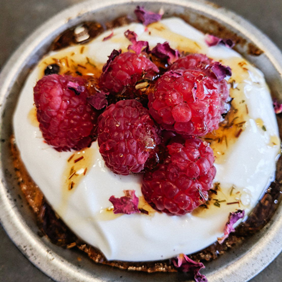 ​Ruby Rose Tea-Spiced Breakfast Cake with Tea Infused Honey