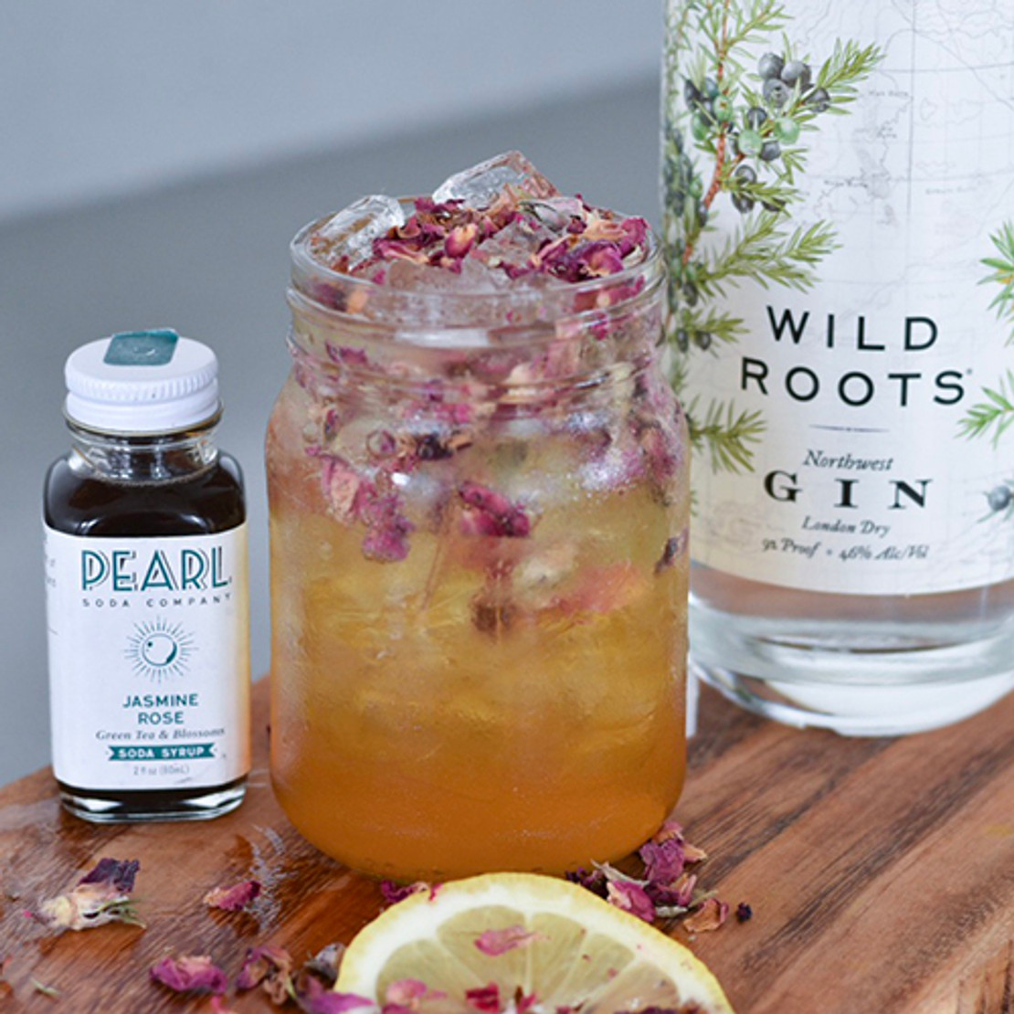 Persian Rose Cocktail - Wild Roots + Jasmine Pearl Tea Co.