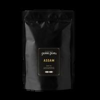 1 lb. packaging for Assam loose leaf black tea from The Jasmine Pearl Tea Co.