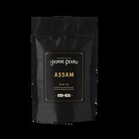 2 oz. packaging for Assam loose leaf black tea from The Jasmine Pearl Tea Co.