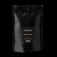 1 lb. packaging for Darjeeling loose leaf black tea from The Jasmine Pearl Tea Co.