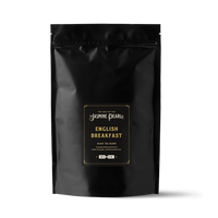 1 lb. packaging for English Breakfast loose leaf black tea from The Jasmine Pearl Tea Co.