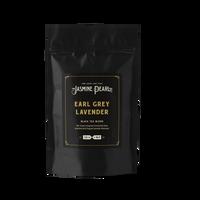 2 oz. packaging for Earl Grey Lavender loose leaf black tea from The Jasmine Pearl Tea Co.