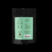 2 oz. packaging for Gunpowder Pinhead loose leaf green tea from The Jasmine Pearl Tea Co.