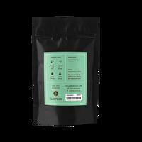 2 oz. packaging for Jasmine Peony loose leaf green tea from The Jasmine Pearl Tea Co.